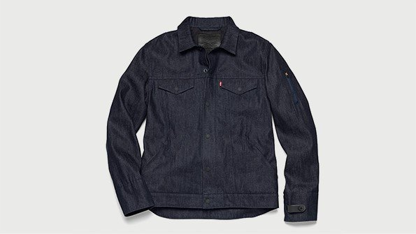 levis communter jacket using google project jacquard