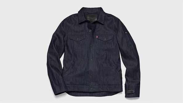 levis communter jacket using google project jacquard