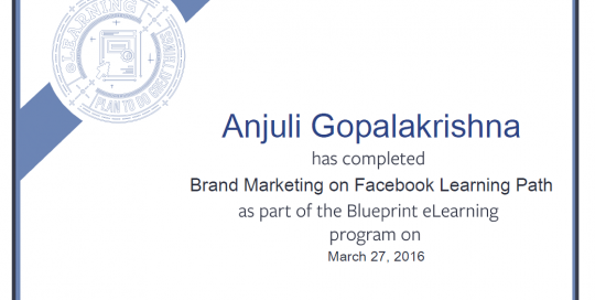 Brand Marketing on Facebook Learning Path