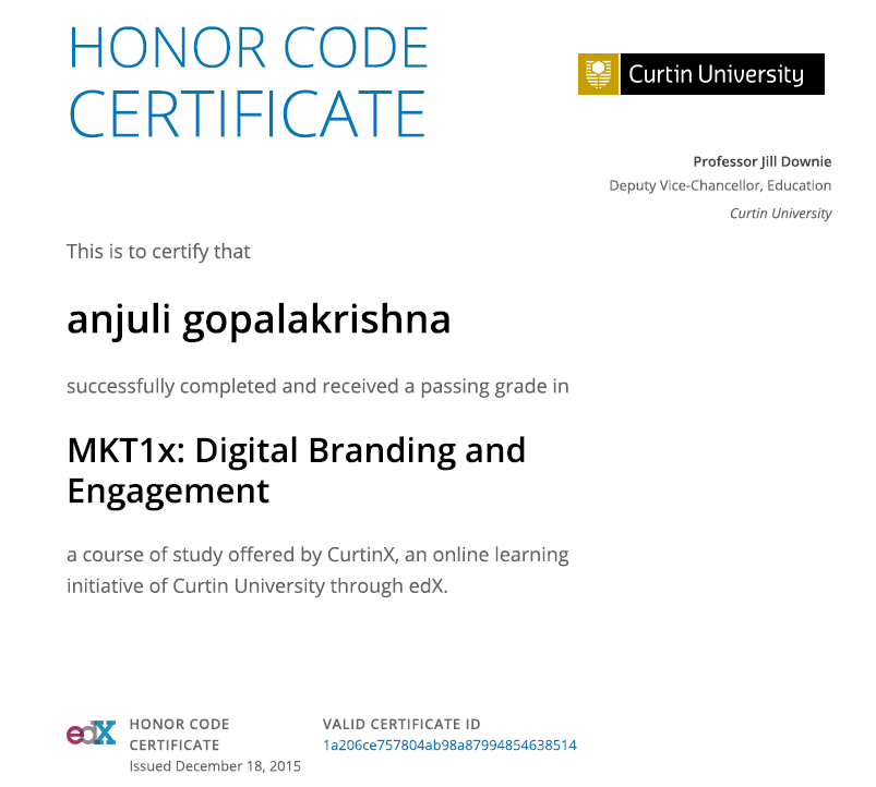 Curtin University Digital Branding and Engagement