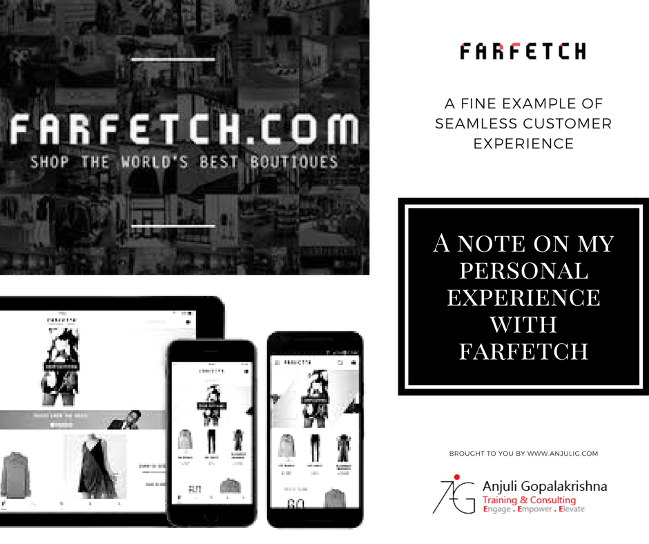 customer experience account with farfetch