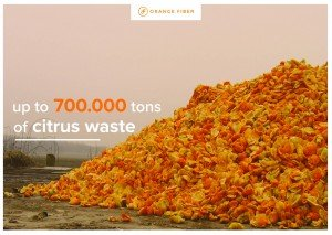 Fabric Made from Orange citrus waste