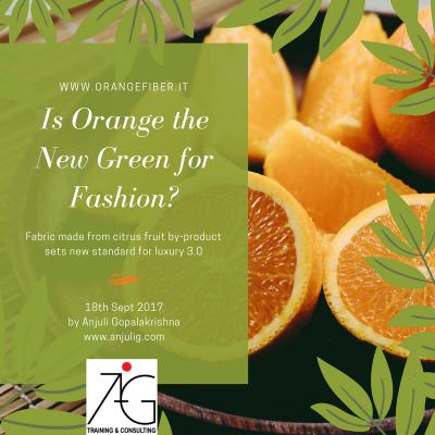 Is orange the new green for sustainable fashion