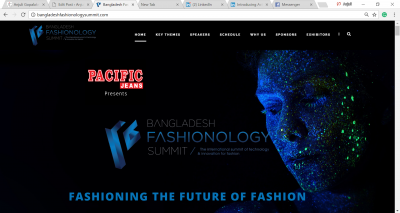 Website Design Bangladesh Fashionology Summit