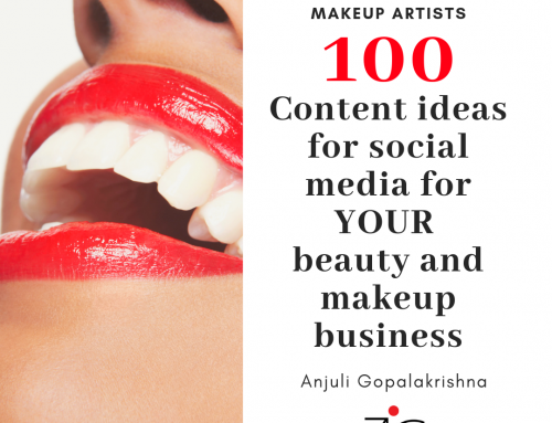 100 Content Ideas for social media for Your beauty and makeup business