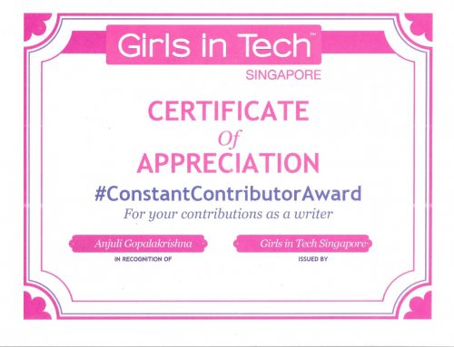 Girls in Tech Constant Contributor Award 2019