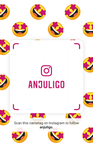 Instagram Nametag for @anjuligo