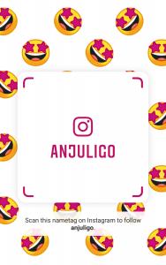 Instagram Nametag for @anjuligo
