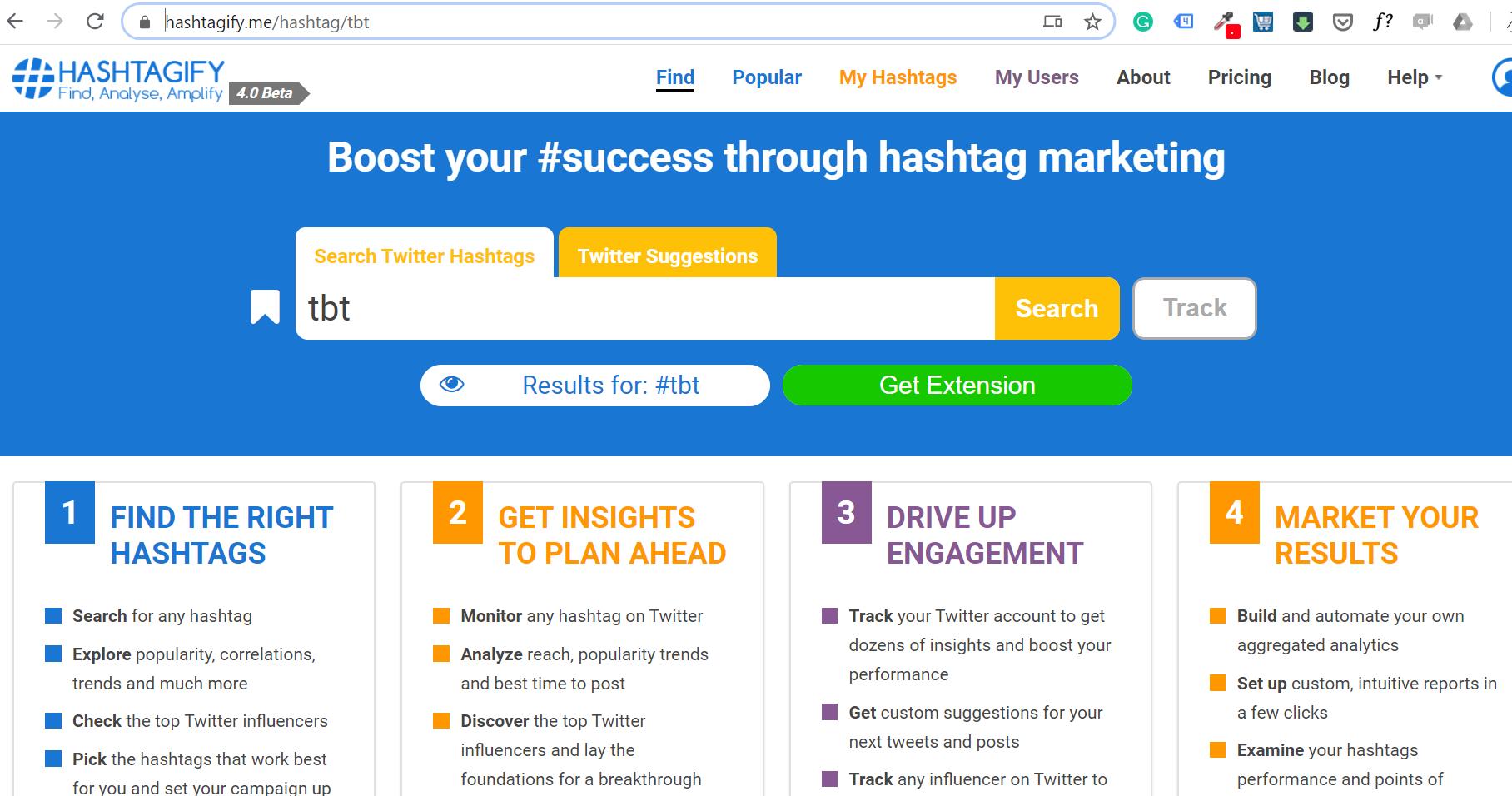 Hashtagify me