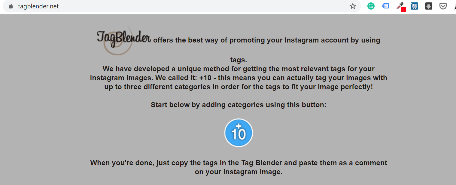 Tag Blender IG hashtag tool