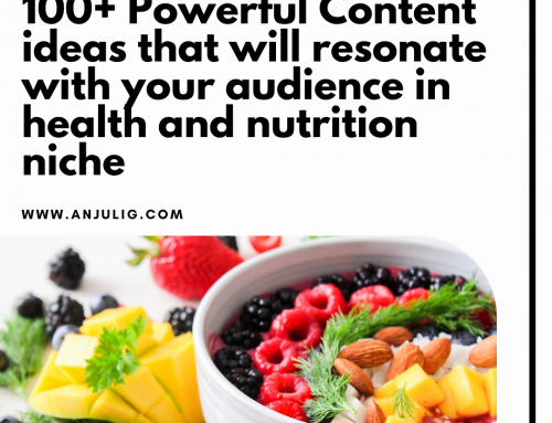 100+ Powerful Content ideas in health and nutrition niche that will resonate with your audience
