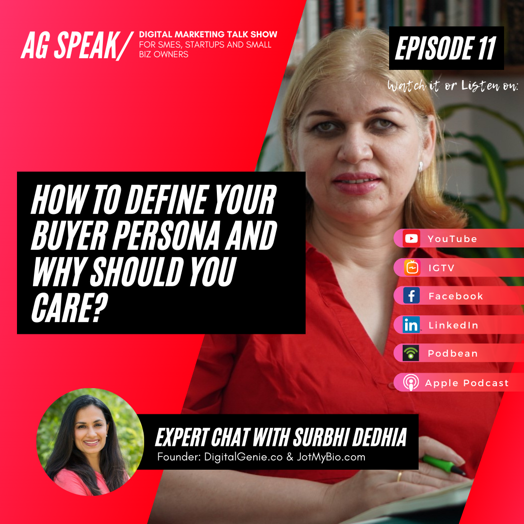 How to define your buyer persona and why you should care - title of podcast episode 11